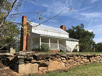 Aaron and Margaret Parker Jr. House - Image: Aaron and Margaret Parker Jr. House front including stone wall