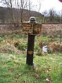 Abandoned Canal Milepost and Railway - geograph.org.uk - 413700.jpg