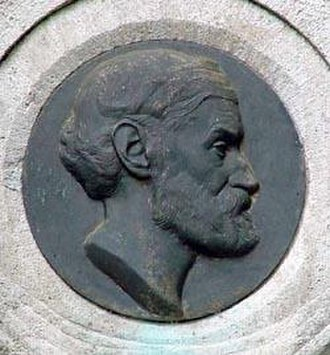 Ernst Abbe - Ernst Abbe, relief at his grave