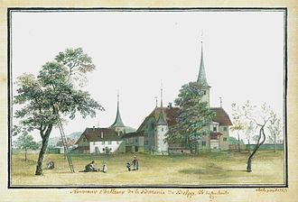Belp - Belp Castle in 1757