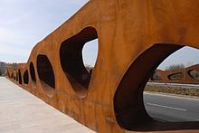Abetxuko Bridge By J Sobrino Pedelta Vitoria Spain Weathering Steel