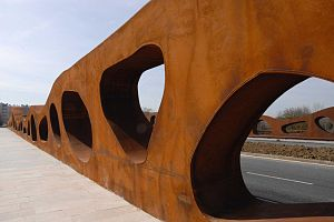 Weathering steel - Abetxuko Bridge by J. Sobrino, PEDELTA, Abetxuko, Vitoria, Spain