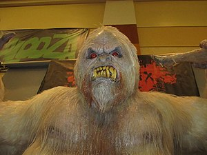 Monsterpalooza - Display of the Abominable Snowman creature at Monsterpalooza 2011