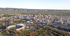 Adelaide city centre - Aerial view of the Adelaide city centre from the northwest