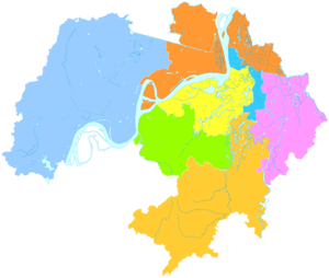 Wuhu - Image: Administrative Division Wuhu