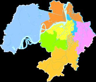 Wuhu - Image: Administrative Division Wuhu