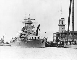Bombardment of Almería - Admiral Scheer in Gibraltar in 1936.