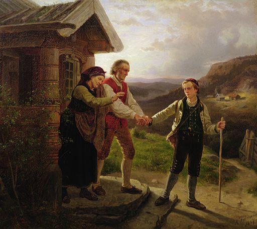 Adolph Tidemand - Den yngste sønnen farvel