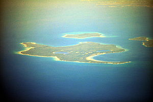 Christian Island - Aerial view of Christian Island from the southeast.