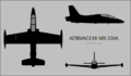 Aermacchi MB-339A three-view silhouette.png