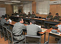 Afghan National Army and Afghan National Police officers attend a procurement class at the Center for Acquisitions and Procurement at the Pohantoon-e-Hawayee military base in Kabul, Afghanistan, June 25, 2013 130625-N-HU855-030.jpg