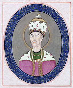 A portrait of Qajar ruler Agha Mohammad Khan, kept at London's V&A Museum Aggha Mohammad Khan.jpg