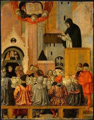 Agnolo degli Erri - A Dominican Preaching by Agnolo degli Erri, National Gallery of Art, 1470