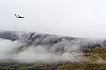 Aircraft landing at Vágar Airport, Faroe Islands.jpg
