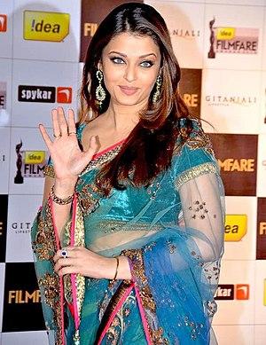 Indian actress Aishwarya Rai at the Filmfare A...