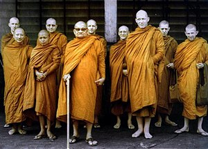 Ajahn Chah with his resident Sangha.