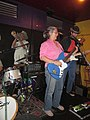 """Al """"Carnival Time"""" Johnson birthday at Mother in Law Lounge Guitarist on Stage.jpg"""