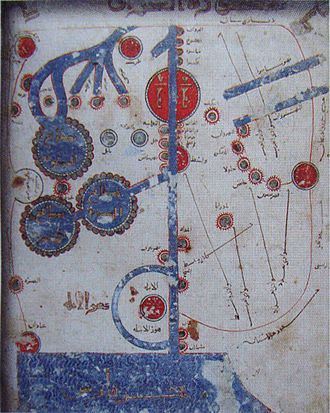 "Istakhri - Estakhri map, from the ""Book of roads and kingdoms""."