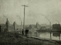 Albion Mill and others on Third Level Canal of Holyoke Canal System (1891).png