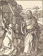Albrecht Dürer, Christ Taking Leave from His Mother, probably c. 1509-1510, NGA 6755.jpg