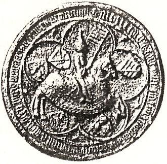Albert III, Duke of Saxe-Wittenberg - Seal of Duke Albert III of Saxe-Wittenberg