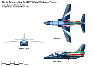 """Aermacchi M-345 - M-345 For Italian Acrobatic Team """"Frecce Tricolori"""""""