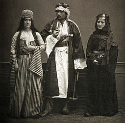 Two Bedouins and a Jewish woman in Aleppo, 1873 Alepp0fashion.jpg