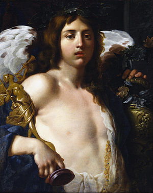 Alessandro Rosi - Love of Virtue, oil on canvas, between 1627 and 1696