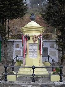 Alexander Csoma de Korosi tomb at Darjeeling.JPG
