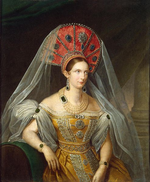 File:Alexandra Fedorovna in yellow Russian dress (1836, A.Malyukov, Hermitage).jpg