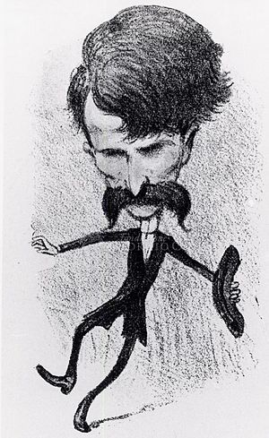 Loreley (opera) - Caricature of Catalani after the success of Loreley in 1890