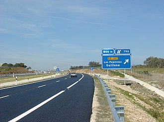 Highways in Spain - Image: Algaba