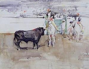 Plaza de toros de Las Palomas - Joseph Crawhall painted here in 1891