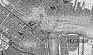 Algiers Point - Detail from an 1888 German map of New Orleans