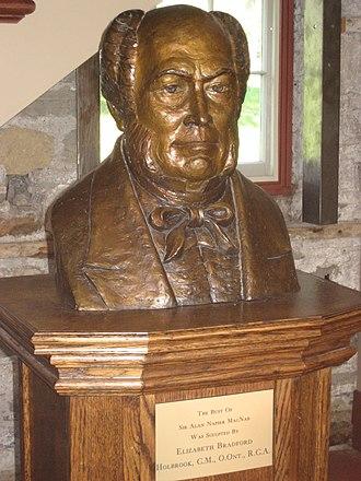 Allan MacNab - Bust of Sir Allan MacNab, sculpted by Elizabeth Bradford Holbrook.