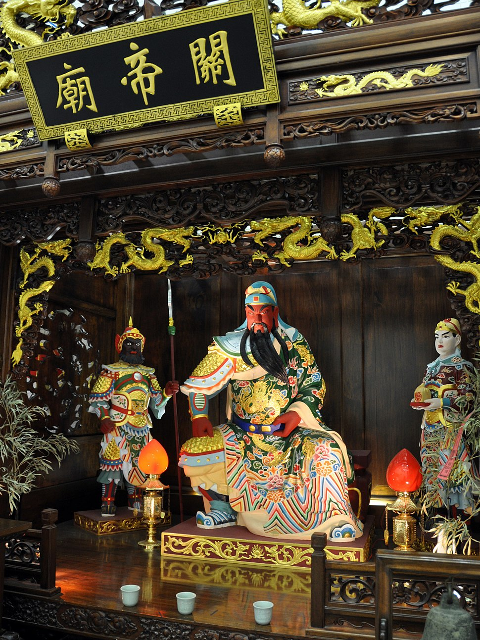 Altar at the Temple of Guandi (a Chinese temple) in Osaka