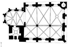 Old St Nicholas Church - Plan of the church.