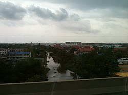 Klong Bang Krathiam. View from Bang Na - Chonburi Expy Tool Road.