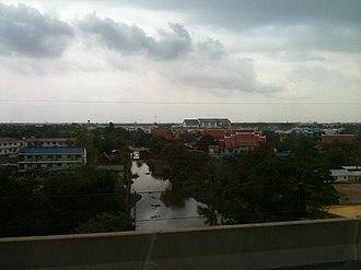 Bang Sao Thong District - Klong Bang Krathiam. View from Bang Na - Chonburi Expy Tool Road.
