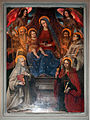 Ambito fiorentino di lorenzo lippi, Madonna in trono e santi, 1643, 02.JPG