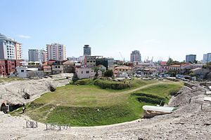Durrës - The Durrës Amphitheatre was built in the 2nd century AD.