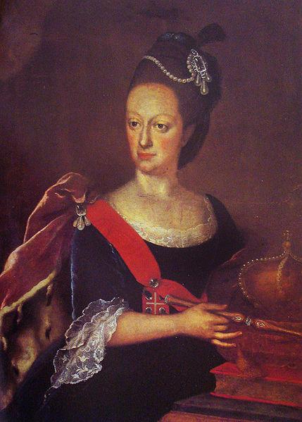 Galerie des souverains eslagnols 429px-An%C3%B4nimo_-_Retrato_de_Dona_Maria_I_-_s%C3%A9culo_XVIII