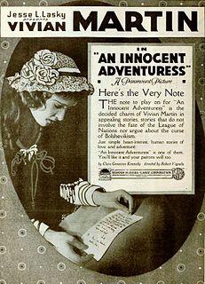 <i>An Innocent Adventuress</i> 1919 film by Robert G. Vignola