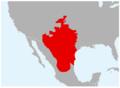 Anaxyrus debilis range map.png