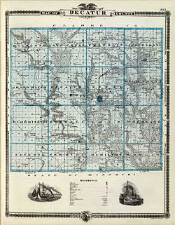 Ancient Map of Decatur County, Iowa