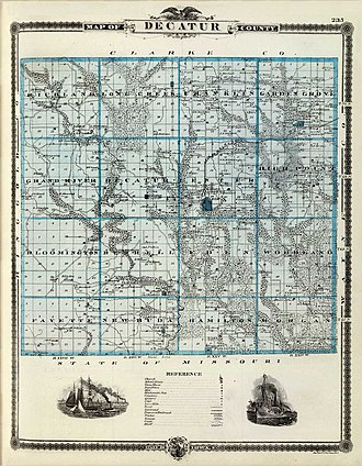 Decatur County, Iowa - Ancient Map of Decatur County, Iowa (1894)