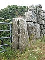 Ancient stone gate post at Higher Bosistow - geograph.org.uk - 851431.jpg