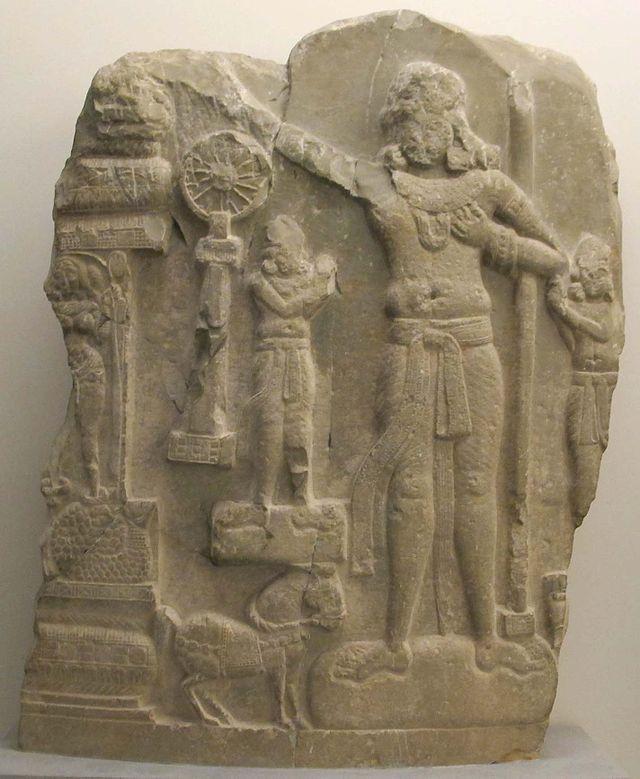 Andhra pradesh, il sovrano universale (cakravartin), da regione di amaravati, I sec. ac.-I sec dc..JPG