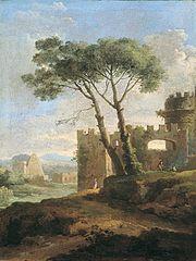 Vue de la porte Saint-Paul à Rome