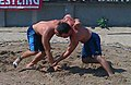 Anthony Gallton (left) vs Robert Teet (right) during USA Wrestling's 2010 World Team Trials for beach wrestling.jpg